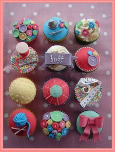 Sewing themed cupcakes by TheSewingStudio @ lovesewing.com