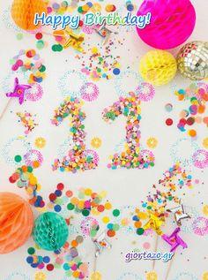 Παιδικά Γενέθλια Κινούμενες Κάρτες  Happy Birthday giortazo Birthday Cake Gif, Happy Birthday Kids, Cake Videos, Celebrity Weddings, Sprinkles, Celebrations, Birthdays, Candy, Children