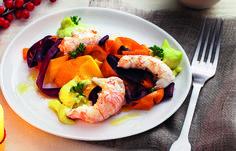 1215_TEMA VIGILIA.indd Scampi con crema di avocado e carote di La Cucina Italiana