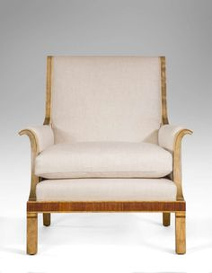 Isidor Horlin: A Pair of Swedish Grace Period Birch and Palisander Armchairs | From a unique collection of antique and modern armchairs at http://www.1stdibs.com/furniture/seating/armchairs/