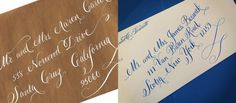 Whimsical (White Ink and navy ink) - Calligraphy at an Angle - Optional