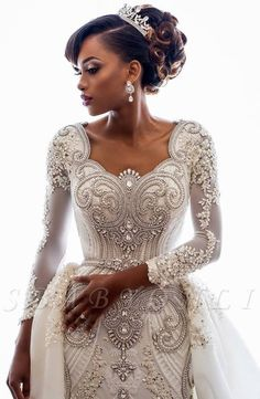 Discount 2019 Beading African Wedding Dresses Crystals Overskirts Luxury Long Sleeves Sheath Detachable Train Bridal Gowns Custom Backless Wedding Dress Expensive Wedding Dresses From Officesupply,… Crystal Wedding Dresses, Lace Mermaid Wedding Dress, Mermaid Dresses, Bridal Lace, Bridal Dresses, Lace Dress, Bridesmaid Dresses, Prom Dresses, Wedding Gowns