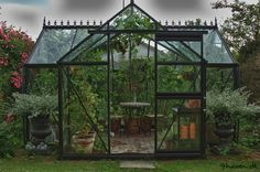 Small orangery on a cloudy day.