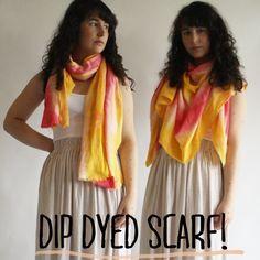 Two-tone dipped scarf from Megan Nielsen...  ♡!! | Rit Dye
