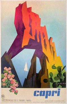 Poster vintage delle vacanze italiane | Italian Ways