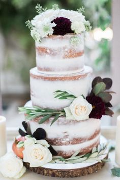 Naked Cake Wedding Cake at McCormick Home Ranch by Frost It Cupcakery Photo by Romabea Images