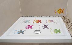 #vinilos antideslizantes para la ducha.  #Peces de colores