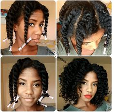 Awesomely Defined Flat Twist Out IG:@syeda_bombom  #naturalhairmag