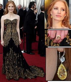 Jessica Chastain. Wow! What a dress!