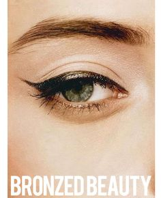 eyeliner almost looks like a very dark green, not black...love it!