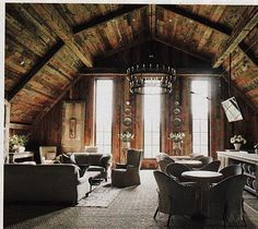 home design Multi-Use Design-this is just gorgeous right down to the rustic ceiling! Lonny Magazine - Accessible Home Design Blackberry Farm Tennessee, Barn Living, Living Rooms, Living Spaces, Country Living, Living Area, Barn Loft, My Home Design, Rustic Elegance