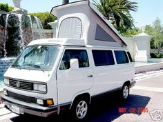 Our vintage 1991 Volkswagen Vanagon Westy (Westfalia). After all these years, it's still cute.