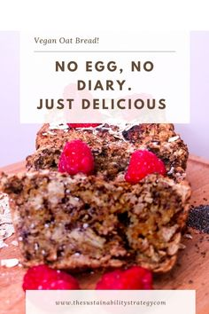 No eggs, Chia Seed used instead. This is a delicious moist bread. Great for breakfast. How To Make Bread, Sustainability, Eggs, Vegetarian, Baking, Website, Healthy, Breakfast, Desserts