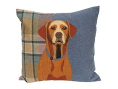 Fox Red Labrador Cushion, Fox Red Labrador Pillow, Dog breed cushion, Made to order Embroidered Cushions, Applique Cushions, Dog Cushions, Fox Red Labrador, Felt Embroidery, Embroidery Patterns, Pet Portraits, Star Fox, Dog Breeds