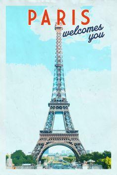 Paris print. Paris poster. Paris art. Paris by ariadnathread