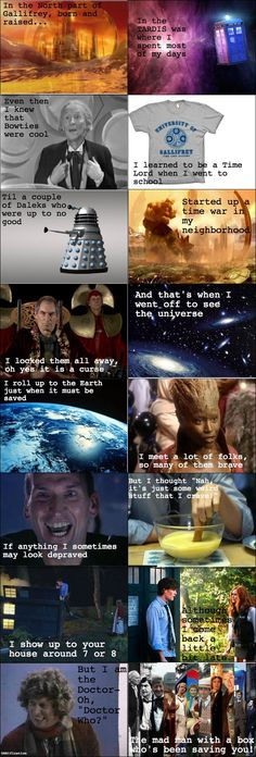 The Fresh Doctor of Gallifrey - Seriously laughed and heard this being sung in Will Smith's voice.