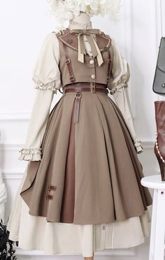 Kawaii Fashion, Lolita Fashion, Cute Fashion, Cute Casual Outfits, Pretty Outfits, Pretty Dresses, Kawaii Dress, Kawaii Clothes, Old Fashion Dresses