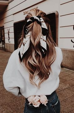 Scarf Hairstyles, Cute Hairstyles, Braided Hairstyles, Hairstyle Ideas, Braided Updo, School Hairstyles, Bandana Hairstyles For Long Hair, Natural Hairstyles, Wedding Hairstyles