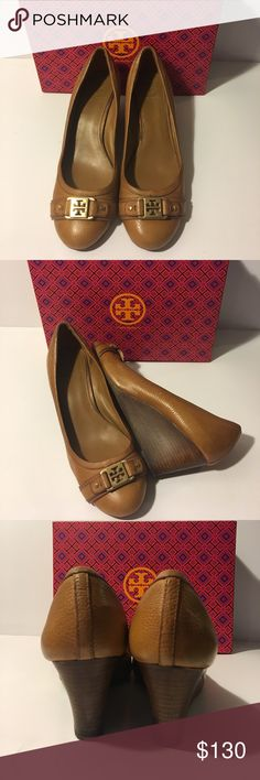 45b99b0514 TORY BURCH AMBROSE WEDGES Good condition Tory BURCH wedges style Ambrose  65MM Royal tan color heel