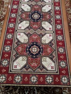 Cross Stitch Embroidery, Cross Stitch Patterns, Needlepoint, Bohemian Rug, Rugs, Antiques, Crafts, India, Decor