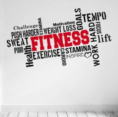 Pro Design FITNESS Wall Decal Word Cloud by DesignDivilFitness
