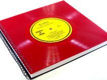 XXL Gästebuch Schallplatte aus Red Vinyl