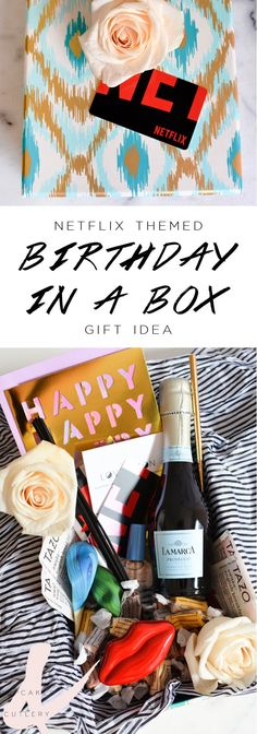 Looking for a unique gift idea for your girlfriend? Create a birthday in a box! This one is themed around Netflix and includes notes on what movies and shows to watch along with some special treats to make for a fun binge watching afternoon. (ad) #StreamTeam
