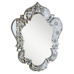 Christopher Knight Home Venetian Clear Design Mirror  overstock.com:160.00