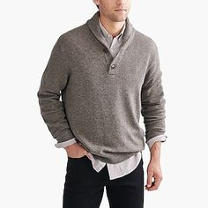 factory mens Shawl-collar sweater in supersoft wool blend Stylish Mens Fashion, Mens Fashion Suits, Fashion Edgy, Fashion Ideas, Fashion Vintage, Fashion Photo, Fashion Tips, Fashionable Outfits, Fashion Styles