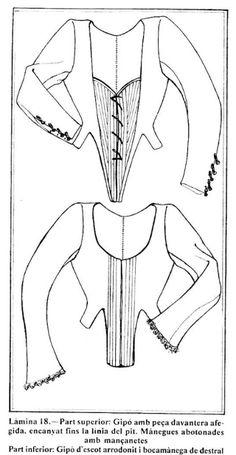 Blog personal sobre corte y confección e Indumentaria Valenciana. Doll Clothes Patterns, Clothing Patterns, Dress Patterns, Sewing Patterns, Diy Clothes, Aragon, Dresses, Blog, Medieval Gown