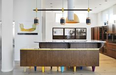 Modern in Moscow or the Python House by Panacom is a marvelous piece of architecture. Copper Light Fixture, Copper Lighting, Light Fixtures, Modern Kitchen Design, Interior Design Kitchen, Kitchen Designs, Python, Contemporary Interior, Contemporary Kitchens