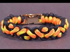 """How to Make the """"Navajo Pattern"""" Paracord Survival Bracelet - BoredParacord! - YouTube"""