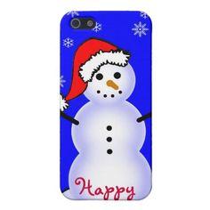 Snowman in a Santa Claus Hat, Happy!:) http://www.zazzle.com/snowman_in_a_santa_hat_happy_holidays_iphone_case-256052124200273645