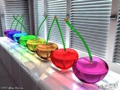 Rainbow Glass Created in Cinema 4D Advanced rendering module Global illumination Rendering time: 24 min Only simple basic shapes with glass texture. Other: Don't forget visit my 3D folder: