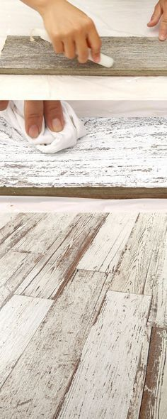 Whitewash wood!
