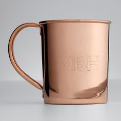 Personalized Copper Mugs for the Moscow Mule addicts in your life. #cheers