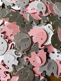 100 Pink and Gray Elephant Confetti Silver Elephant elephant Elephant  Elephant 3eeaeeadc36