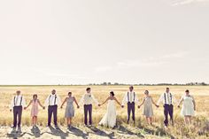 Cute. Do one with the bride and maid of honor and groom and best man and then switch them too. Hold my hand :)