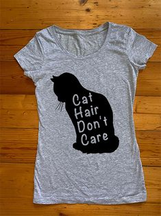 Cat Hair Don't Care Iron On Transfer Metallic Pink, Matte Gold, Cat Hair, Iron On Transfer, Esty, Personalized T Shirts, Don't Care, T Shirts For Women, Hoodies