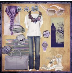 """steel lavendar"" by vstaci on Polyvore"