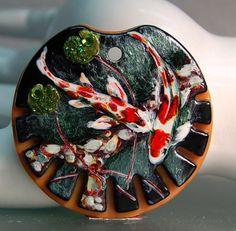 TRIZASDESIGNS- Handmade glass pendant, lampwork bead focal LB0767 - SRA