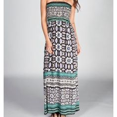 Maxi Dress Angie Blue Black S Perfect for summer. Maxi dress by Angie. Never worn! Angie Dresses Maxi