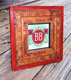 frame out of vintage yardstick or rulers