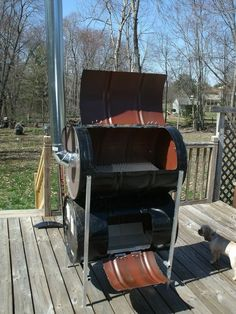 The No-Weld Double-Barrel Smoker (and How to Use It) : 20 Steps (with Pictures) - Instructables Dyi Smoker, Ugly Drum Smoker, Bbq Pit Smoker, Homemade Smoker, Pit Bbq, Barrel Stove, Offset Smoker, Metal Barrel, Smoke Grill