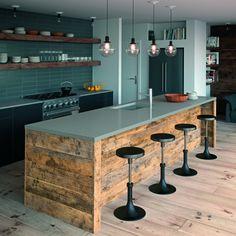Sleek Concrete Rough Kitchen