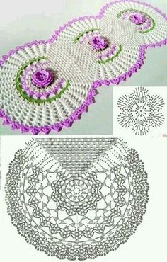 "diy_crafts-caminho de mesa com grafico croche ile ilgili görsel sonucu ""Kira scheme crochet: Scheme crochet no. Filet Crochet, Crochet Doily Diagram, Crochet Doily Patterns, Crochet Chart, Crochet Squares, Thread Crochet, Crochet Motif, Crochet Afghans, Crochet Table Runner Pattern"