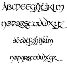 hobbiton-brush-hand-font-the-hobbit and other fonts for elvish and Tolkein-related. Not sure if these are free to use or fonts you need to pay for.