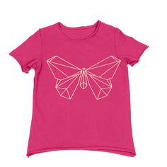 Kids Organic Cotton Short Sleeve T-Shirt Origami Butterfly by TeresKidsShop on Etsy