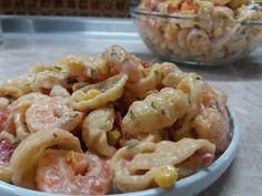 Πολύχρωμη μακαρονοσαλάτα με γαρίδες! Cookbook Recipes, Cooking Recipes, Cheesecake Brownies, Salad Bar, Greek Recipes, Pasta Salad, Potato Salad, Shrimp, Recipies