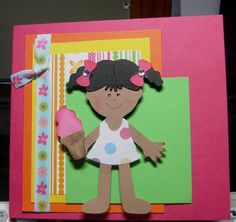 Everyday Paper Dolls - girl, ice cream cone, summer
